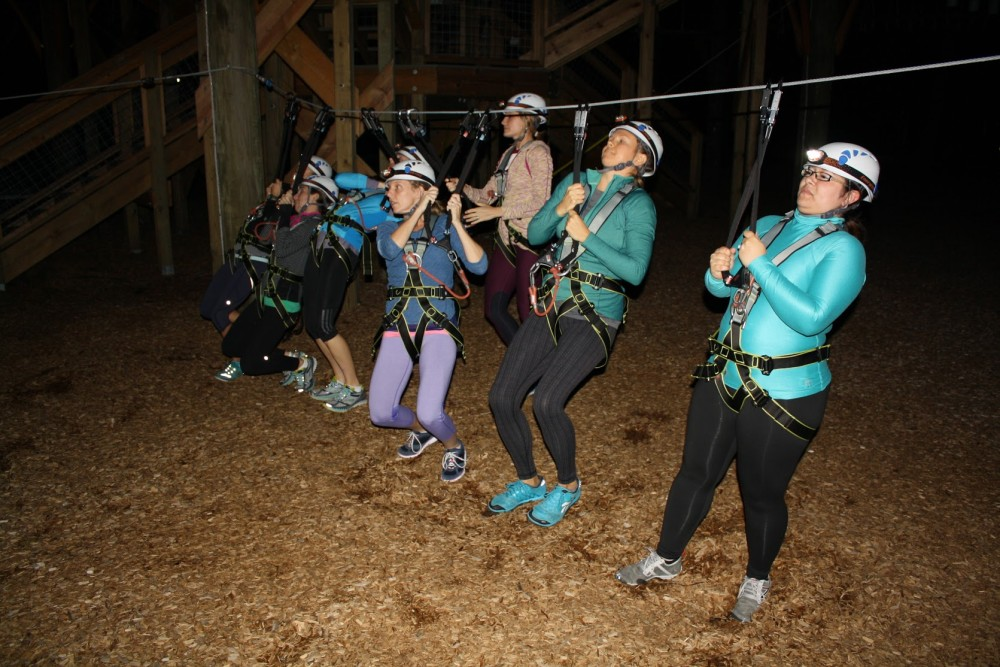 wild blue ropes at night